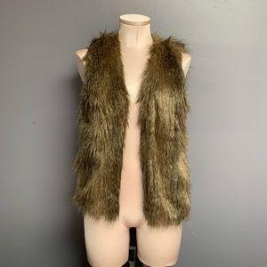 H&M Faux Fur Brown Vest